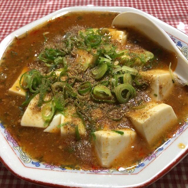 自宅で麻婆豆腐