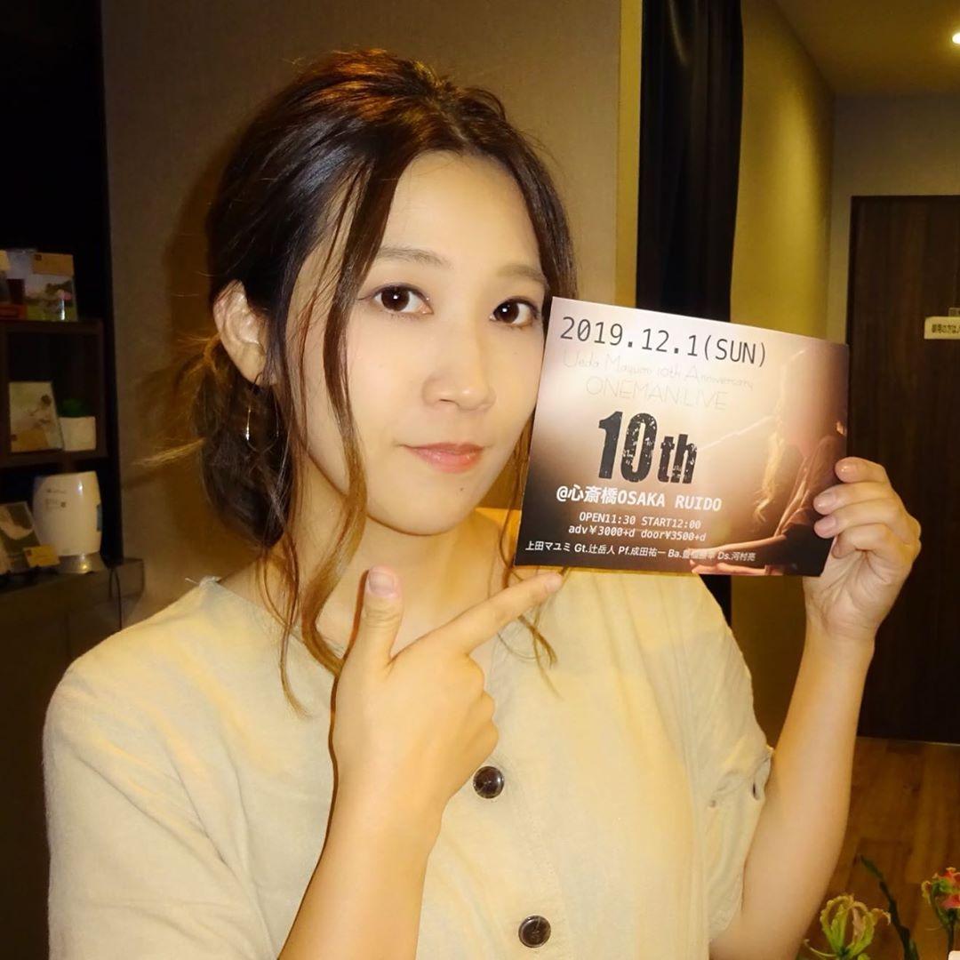 @maaaayu1024 上田マユミ10周年単独ライブ 2019/12/01 OSAKA RUIDO.