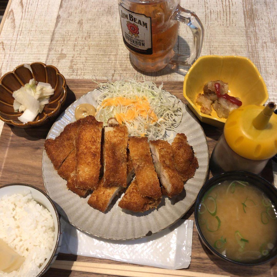 ダブルチキンカツ定食