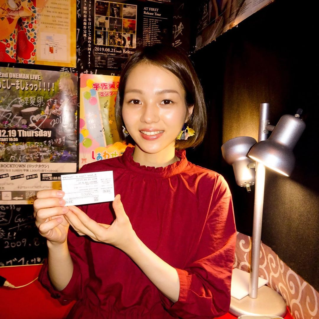 心斎橋酔夏男 上田マユミ企画ライブ サチウスコ(kio) 赤い衣装が映えます(^o^)